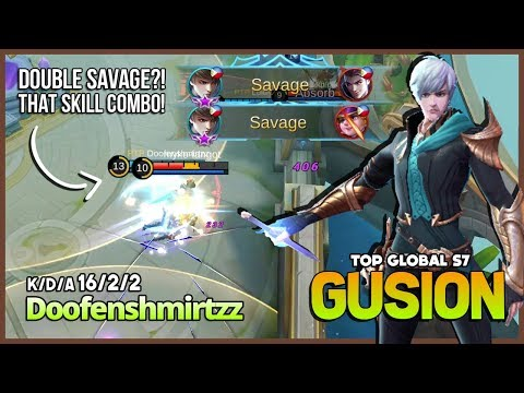 Double Savage from King of Gusion! Doofenshmirtzz Top Global Gusion S7 ~ Mobile Legends
