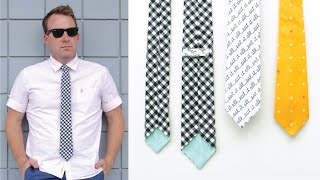 How to make a necktie for all ages --- Skinny Tie and Classic Tie