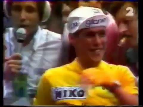 Tour 1976 Lucien Van Impe wint geel in Parijs