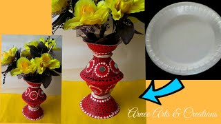 Flower Vase made of thermocol plate II Unique DIY