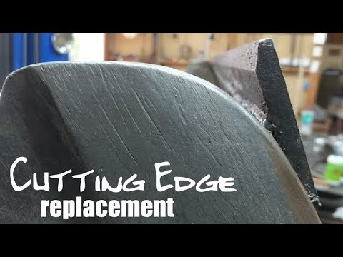 Loader Bucket Cutting Edge Replacement