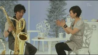 Shinji Takeda (Japanese actor,plays sax) Crystel Takigawa : intervi...