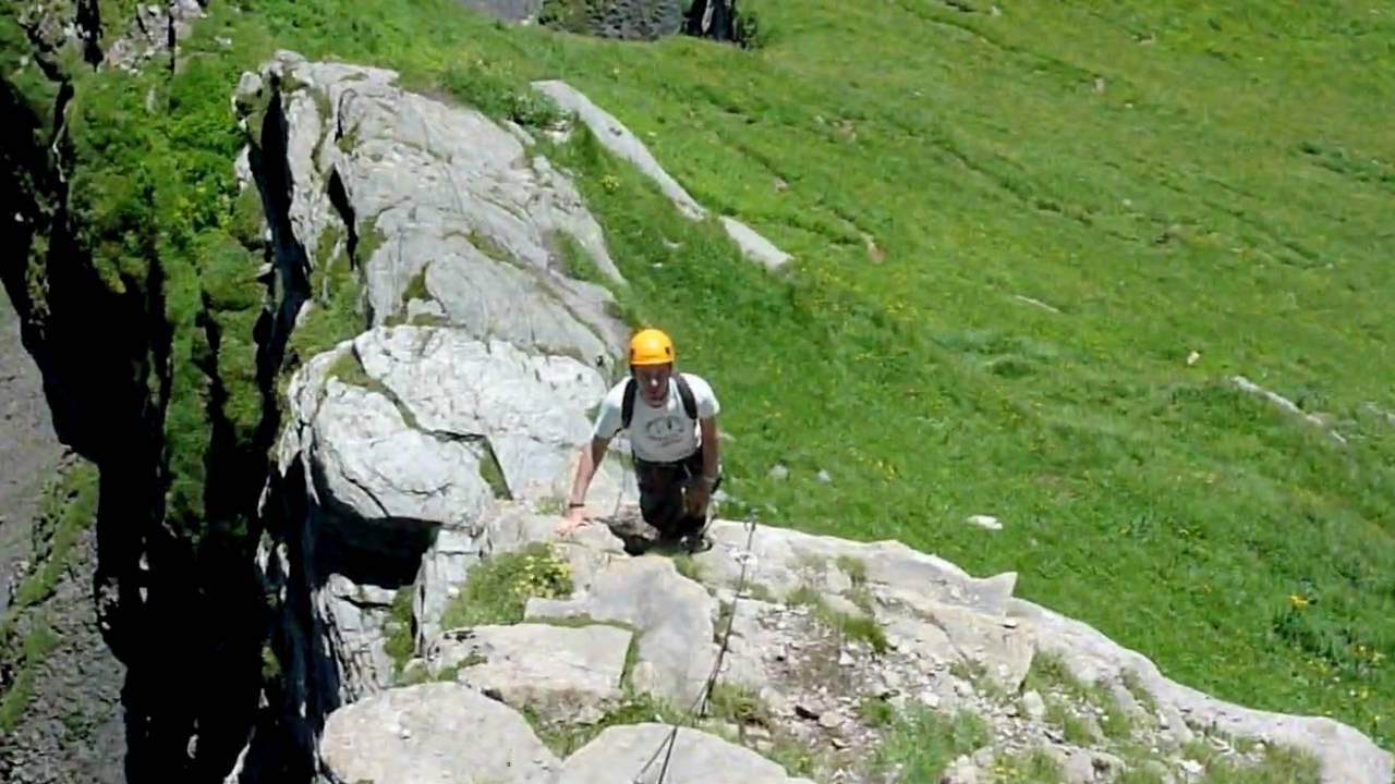 Klettersteig Graustock : Klettersteig graustock m youtube