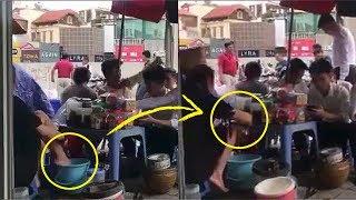 Viral! Pedagang Celupkan Kaki di Ember Lalu Tuang Airnya ke Minuman Pelanggan
