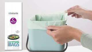 """Обзор «Мешки для мусора """"Brabantia"""", биоразлагаемые, 6 л, 10 шт. 419683, цвет зеленый»"""