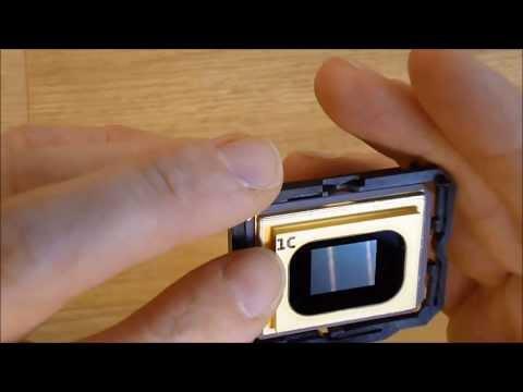 DLP teardown follow up: color wheel and DLP chip