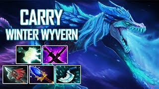 TRIED CARRY WINTER WYVERN - SingSing Dota 2 Highlights
