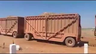 é caminhão ou trem canavieiro de 10 vagão