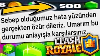 SUPERCELL *, 500 GREEN STONE SENT! -ZERO EFSANEVİYE-CLASH ROYALE #24