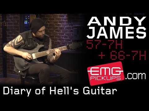 """Andy James plays """"Diary of Hell's Guitar"""" for EMGtv"""