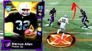 99 OVERALL MARCUS ALLEN CAN'T BE STOPPED!! Madden 20 Gameplay