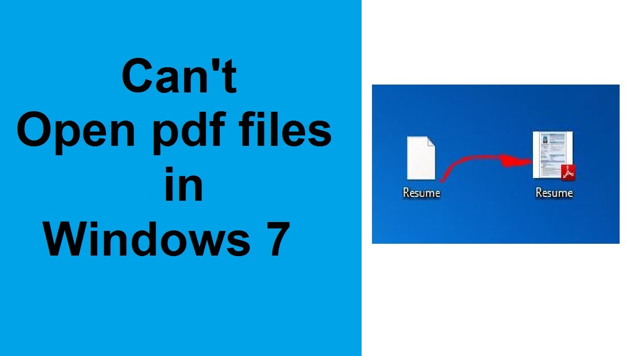 Cant Open Pdf After