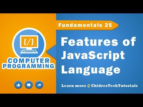 JavaScript Tutorial 17 - Features Of Javascript Language
