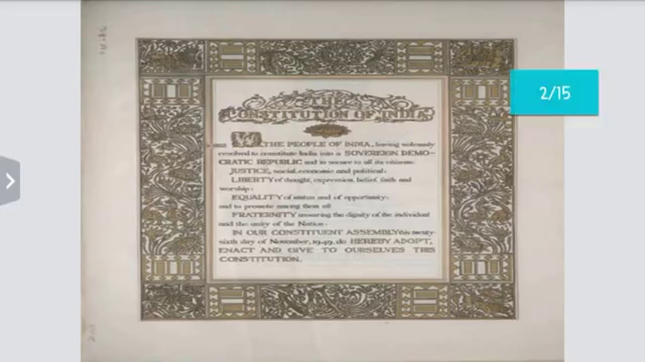 PREAMBLE TO CONSTITUTION OF INDIA ( polity ) - YouTube