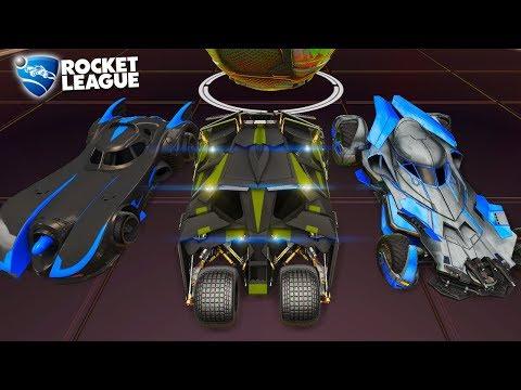 Rocket League - Partida com Todos os Batmóvel Juntos