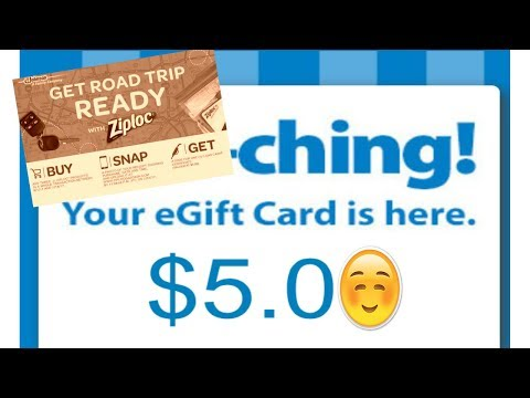 How To Transfer Your Ziploc Gas Card To A Walmart Gift Card