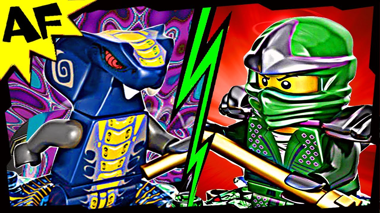 Green ninja vs slithraa lego ninjago 9573 9574 spinjitzu battle stop motion review youtube - Ninjago vs ninjago ...