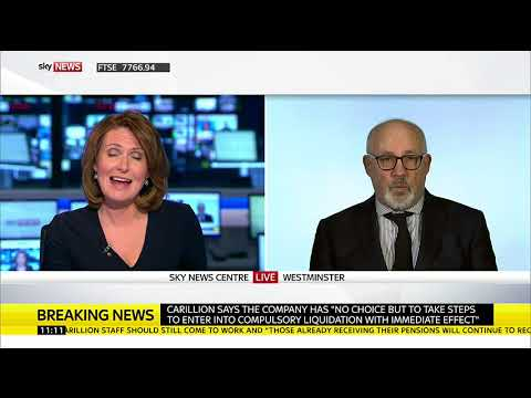 Shadow Cabinet Office Minister Jon Trickett speaks on the Carillion collapse