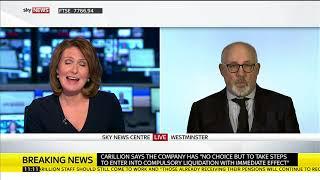 Shadow Cabinet Office Minister Jon Trickett speaks on the Carillion collapse