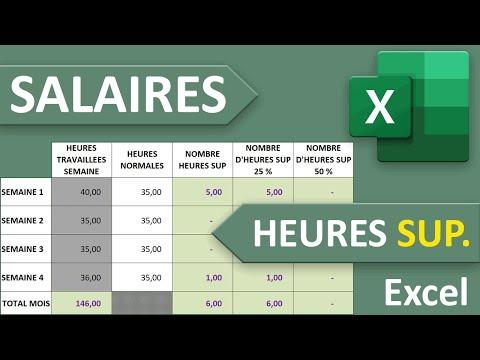 Salaires Et Heures Supplémentaires Majorées Excel