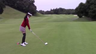 マーク金井と森下千里のゴルフを極める「ゴル極」 新ドライバーでのティーショット 森下千里 検索動画 20