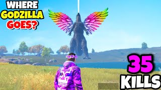 Where Does Godzilla Goes At The END in PUBG Mobile? • (35 KILLS) • PUBGM