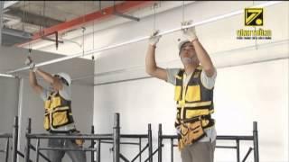 Thi công trần thạch cao bằng hệ khung trần chìm Vĩnh Tường ALPHA (2012 - cũ)