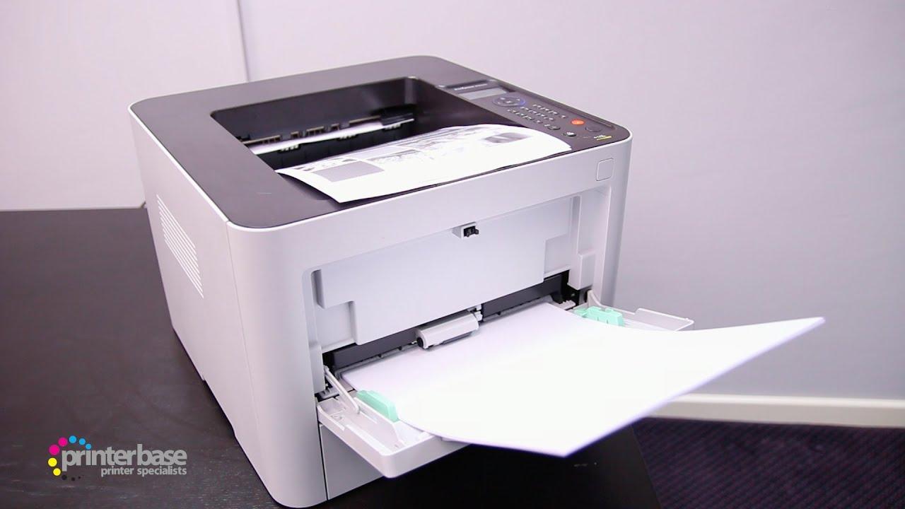 Samsung M3820ND Mono Laser Printer Demo | printerbase.co.uk - YouTube