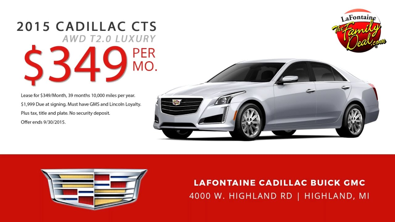 2015 Cadillac CTS Lease Sepcial at LaFontaine Cadillac ...