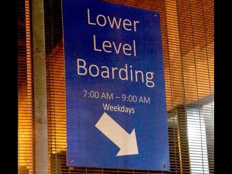Lower level boarding at Staten Island Ferry is open