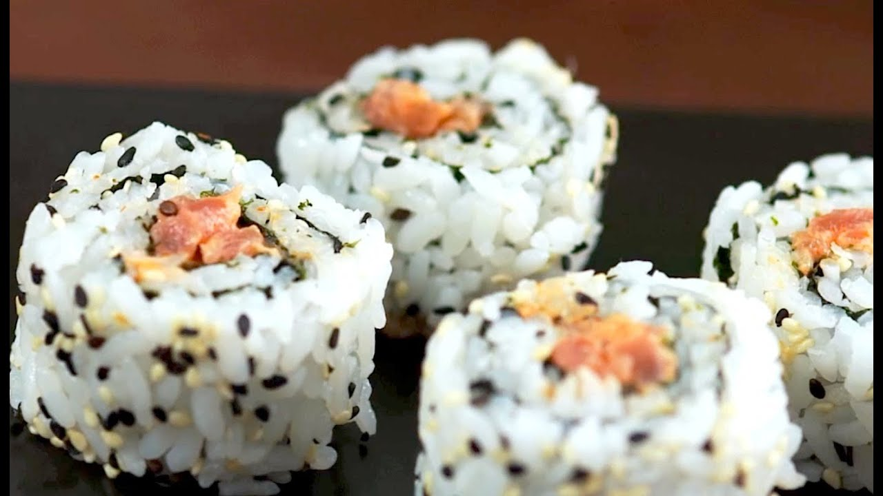 How to Make Inside Out Sushi Rolls - YouTube