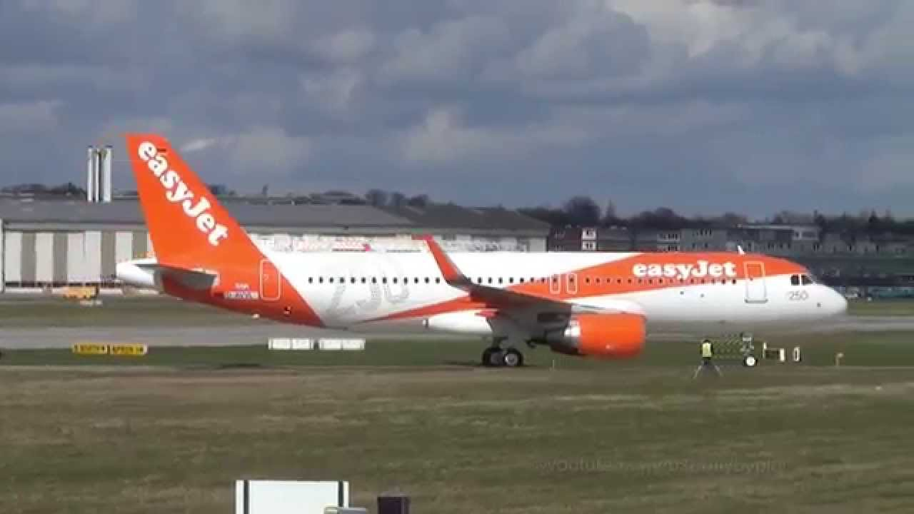 250th Easyjet Airbus   New A320 '250th Airbus Livery' [G ...