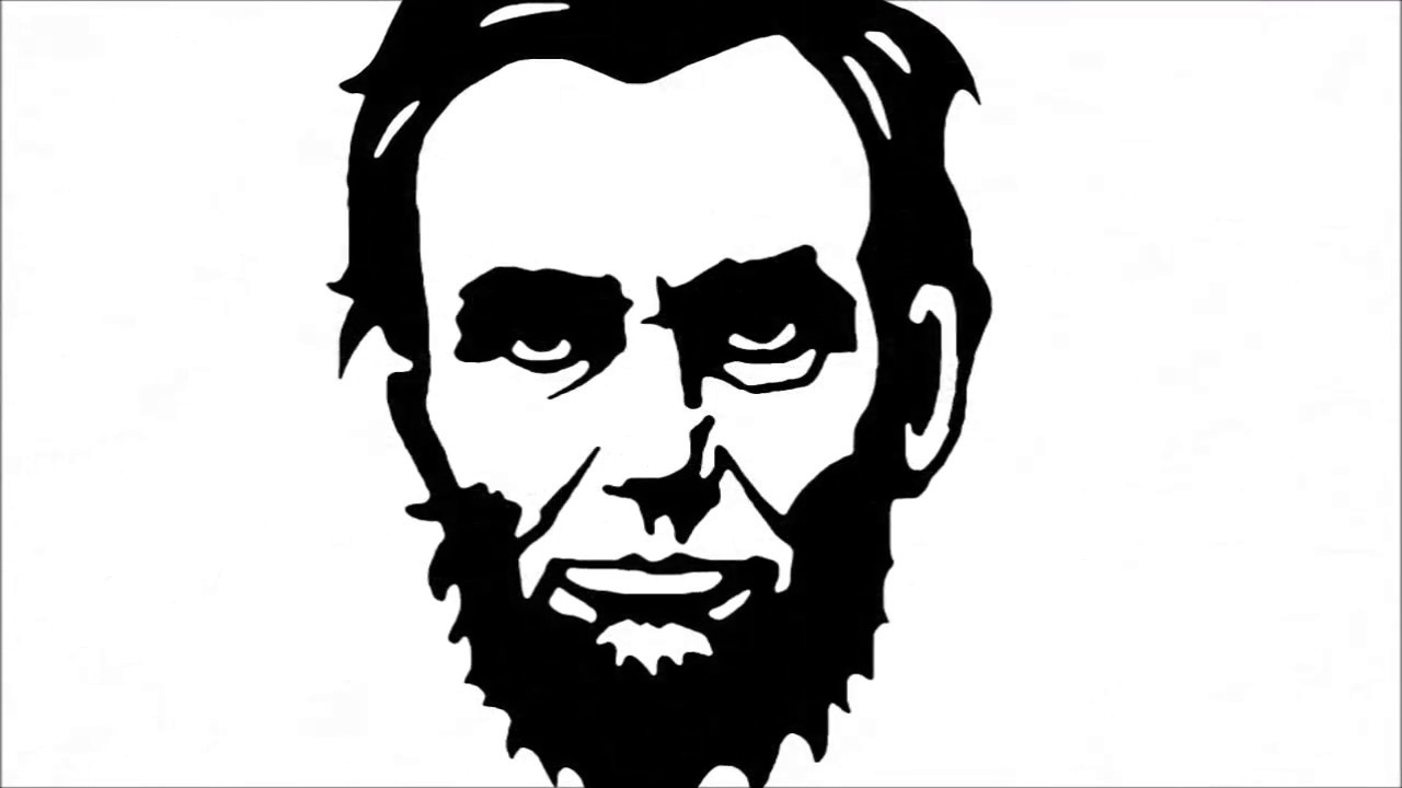 Abraham Lincoln Simple Drawing Ancora Store