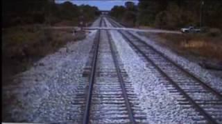 Amtrak train - car collision footage - cab view (read description!!)