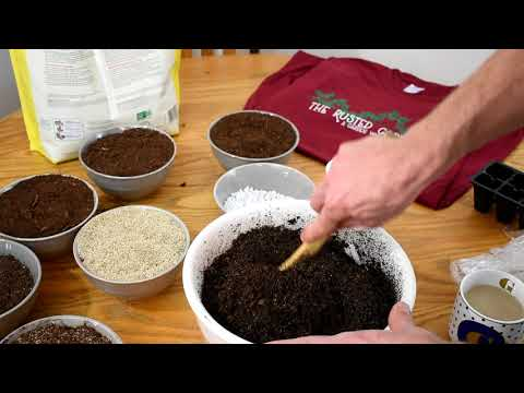 How to Make Inexpensive Sterile Starting & Potting Mix: Peat, Vermiculite & Perlite-No Fungus Gnats