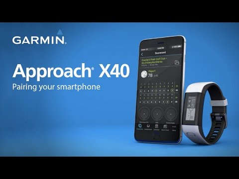 Garmin Approach X40: Pairing your Phone