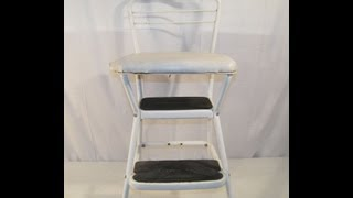 Vintage Retro White Cosco Flip Up Style Stepstool
