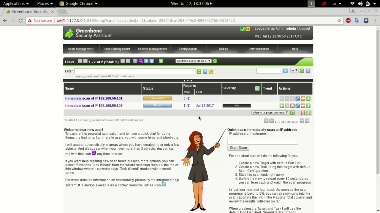 12- Vulnerability Scanning (Openvas)