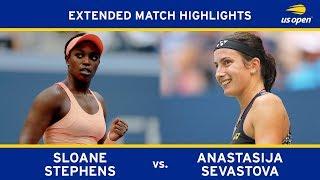 Sloane Stephens vs. Anastasija Sevastova | 2017 US Open, QF