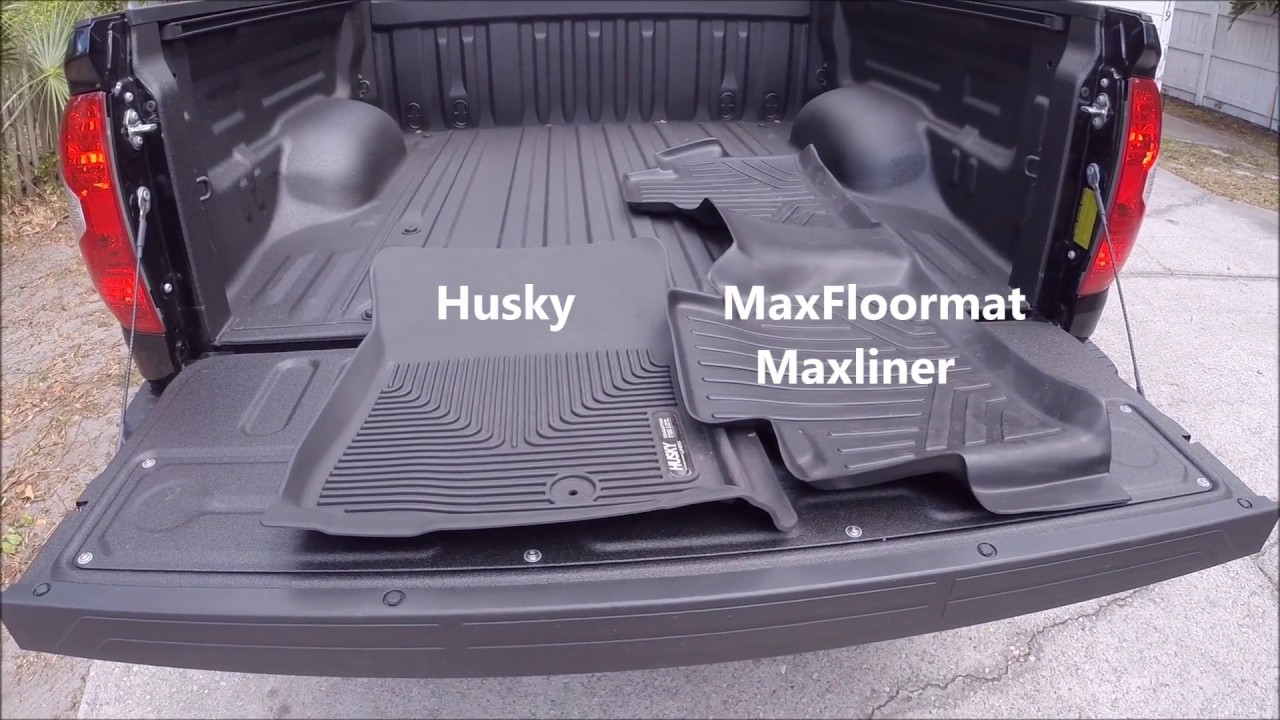 husky vs maxliner maxfloormat review 2017 tundra - youtube