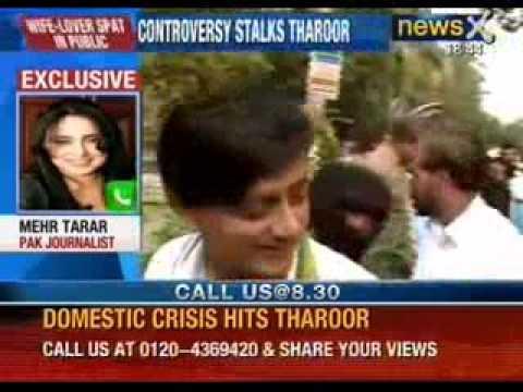 A new controversy on Twitter. Shashi Tharoor, Sunanda Pushkar and Mehr Tarar - NewsX