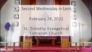 Mid-Week Lenten Service, Second Wednesday in Lent