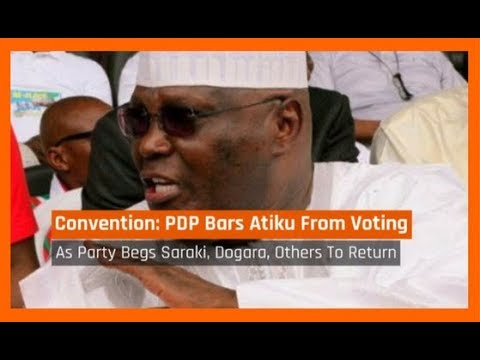 Nigeria News Today: PDP Shuts Out Atiku From Voting At National Convention (07/12/2017)