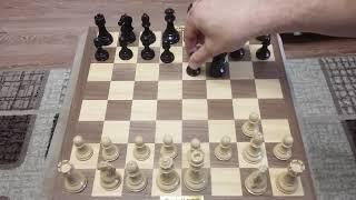 Шахматы. Каталонское начало и супер ловушка.