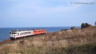 八戸線 陸奥白浜ー鮫 キハ40系普通列車
