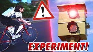 EXPERIMENT: Mit GETUNTEM Rennrad blitzen lassen ?! - (Finale) Gadget Fun!