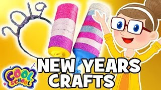 NEW YEARS CRAFTSHeadband + Party Poppers!Crafts for Kids Crafty Carol Crafts
