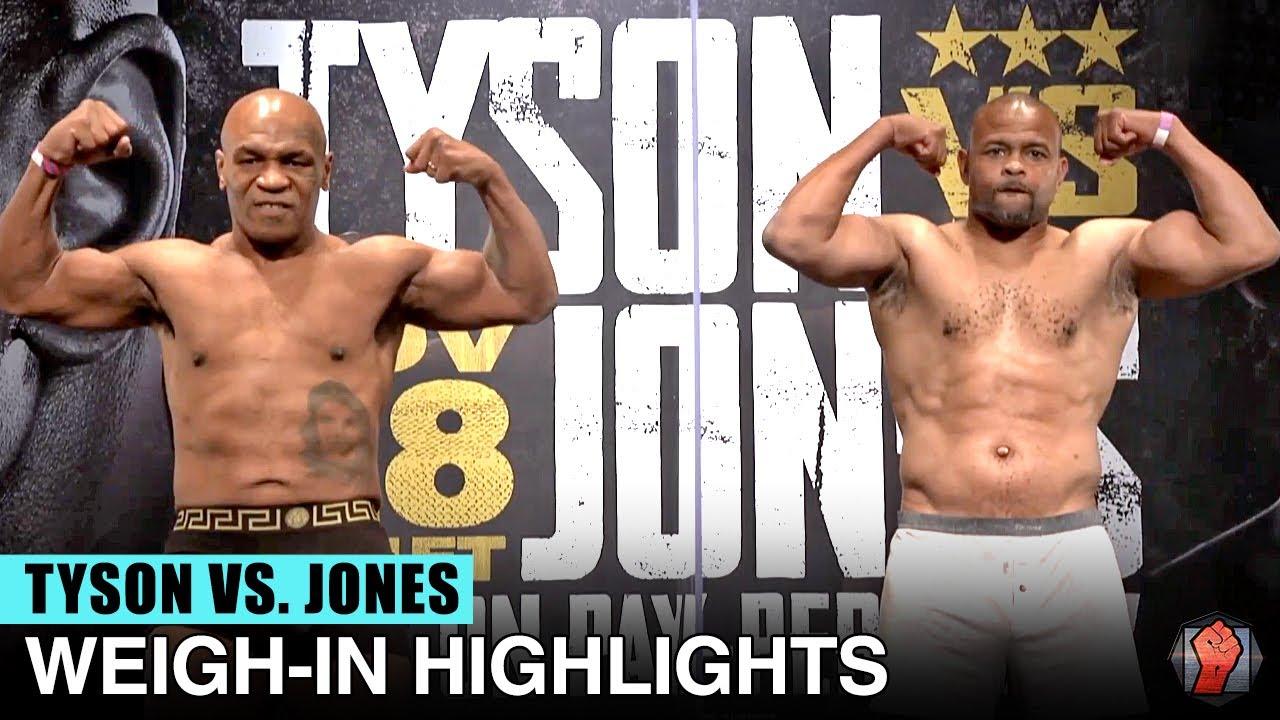 WEIGH IN HIGHLIGHTS | MIKE TYSON VS ROY JONES JR. / JAKE PAUL VS NATE ROBINSON