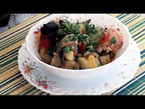 Рецепты в мультиварке. Овощное рагу с курицей.