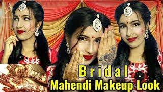 Indian Bridal Mehndi Makeup Look    Wedding Special Makeover